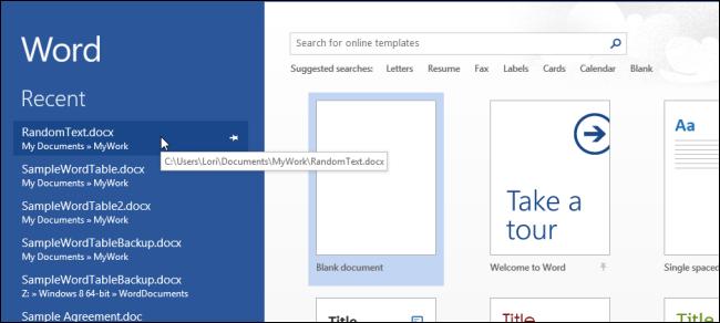 حذف صفحه ی شروع Office 2013