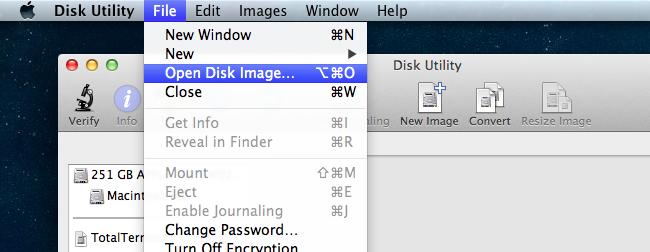 پایه تصویر ISO در سیستم عامل Mac OS X