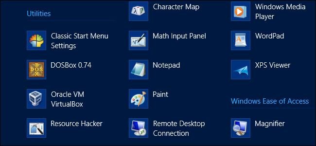 سازماندهی لیست کامل نرم افزار بر روی ویندوز 8