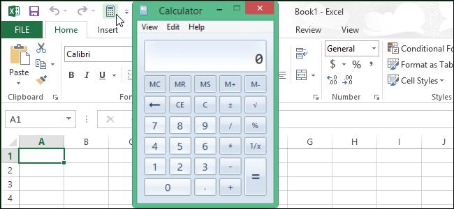 اضافه کردن ماشین حساب به نوار ابزار در Excel 2013