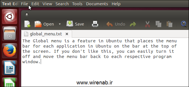 چگونه منوی را در Ubuntu 13.10 غیر فعال کنیم؟