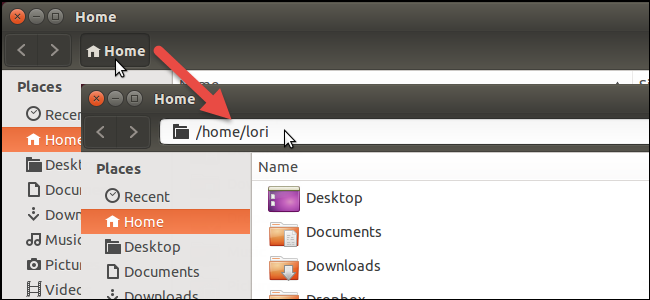 نمایش نوار آدرس مسیر پوشه یا فایل در پنجره برنامه در اوبونتو 14.04