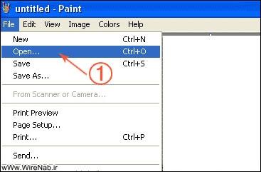 آموزش تصویری کم کردن حجم عکس در paint