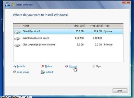 آموزش ترفند طریقه فرمت کردن یک درایو در ویندوز